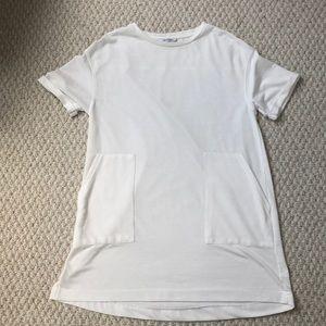 ZARA White T-Shirt Dress